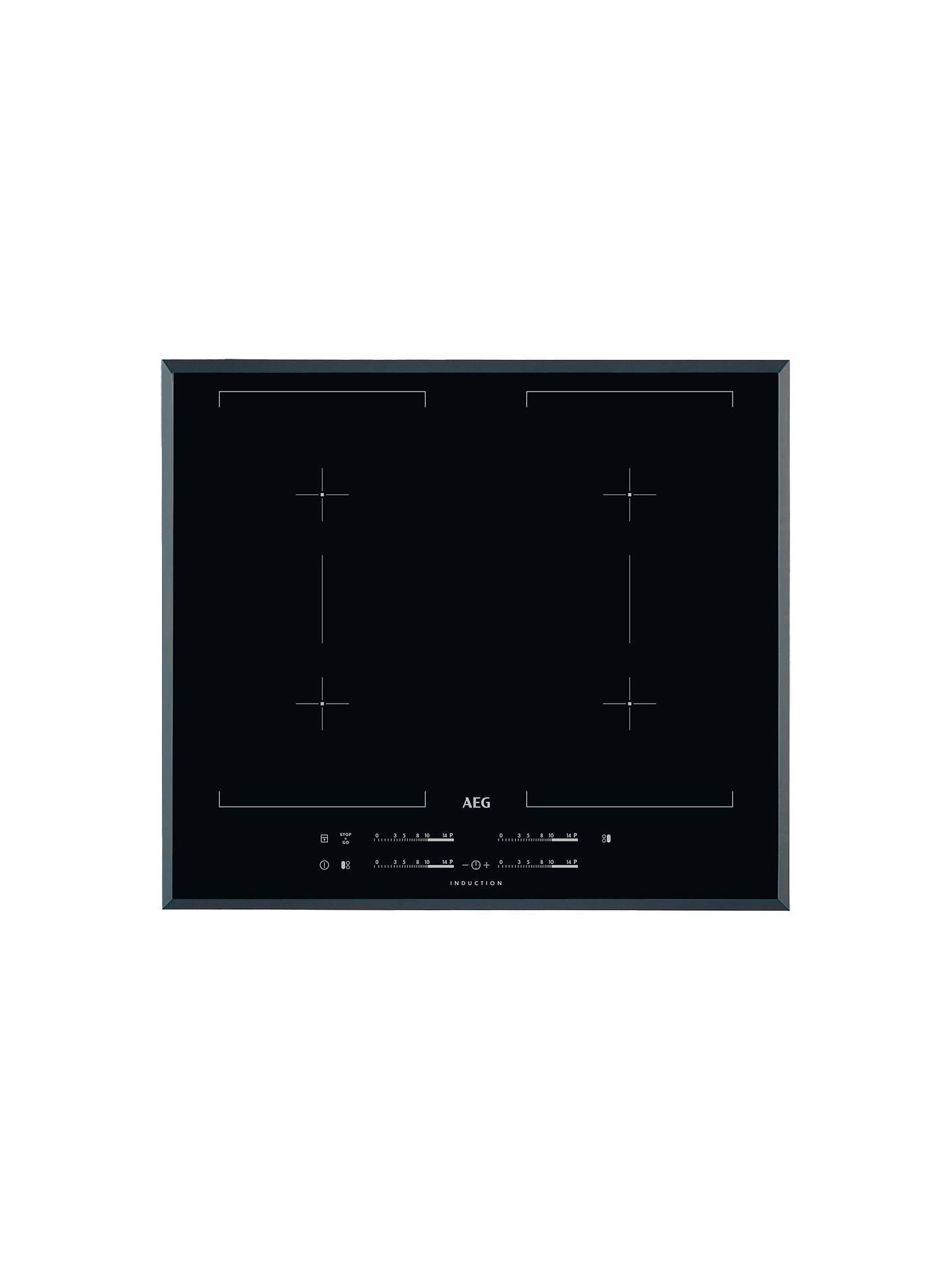 Aeg Hk654400fb Maxisense Induction Hob Black At John Lewis Partners Washing Machine Wiring Diagram Buyaeg Online