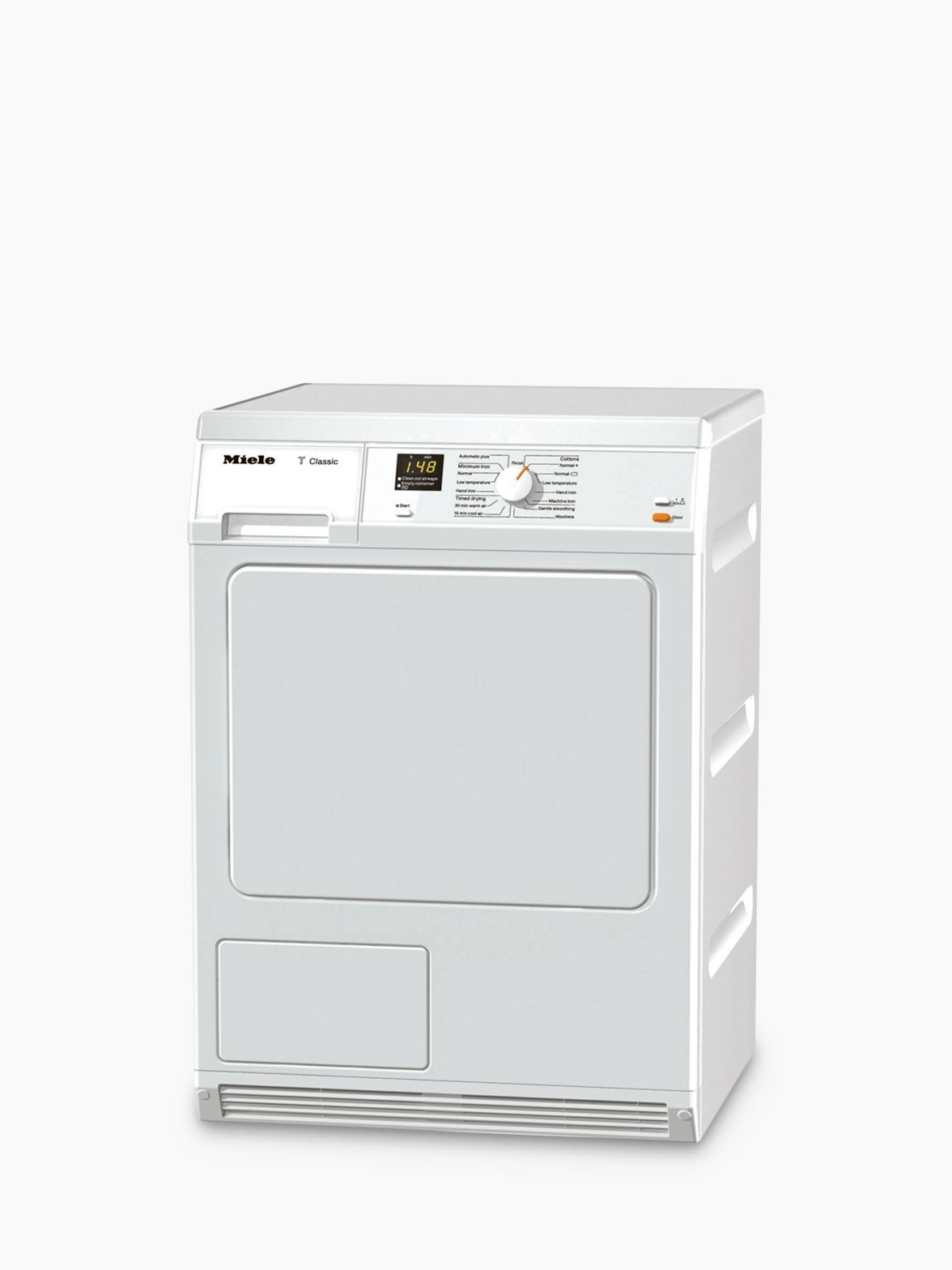 Miele Miele TDA150C Condenser Freestanding Tumble Dryer, 7kg Load, B Energy Rating, White