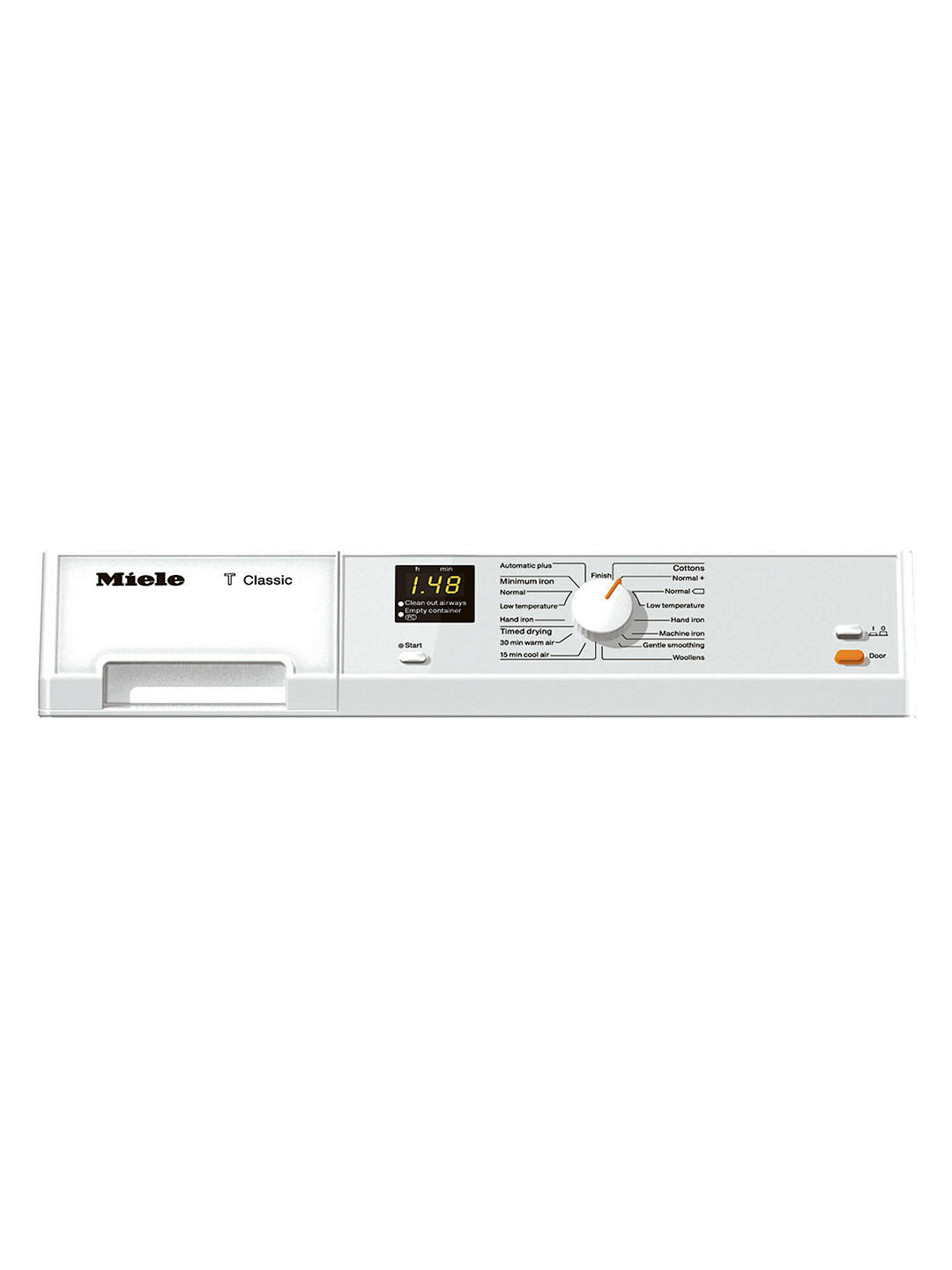 Buy Miele TDA150C Condenser Freestanding Tumble Dryer, 7kg Load, B Energy Rating, White Online at johnlewis.com