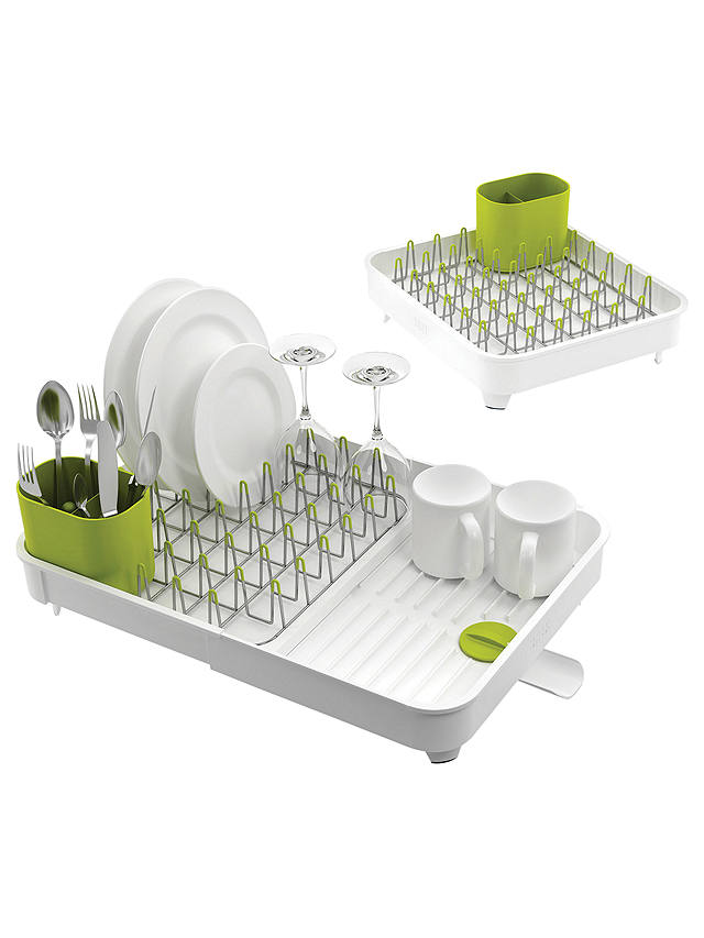 Buy Joseph Joseph Extend Expandable Dish Rack, White / Green Online at johnlewis.com