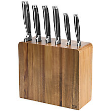 Buy Jamie Oliver 6-Piece Filled Acacia Knife Block Online at johnlewis.com