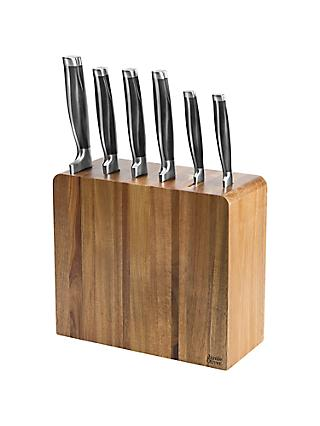 Jamie Oliver 6-Piece Filled Acacia Knife Block