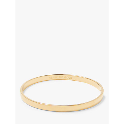 Buy kate spade new york Heart Of Gold Bangle, Gold Online at johnlewis.com