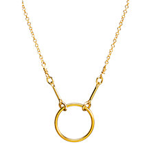 Buy Dogeared Gold Plated Original Karma Necklace, Gold Online at johnlewis.com