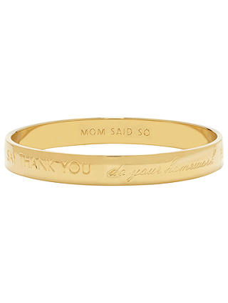 Buy kate spade new york Mom Said So Engraved Bangle, Gold Online at johnlewis.com