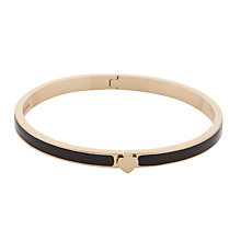Buy kate spade new york Thin Hinged Bangle, Black Online at johnlewis.com
