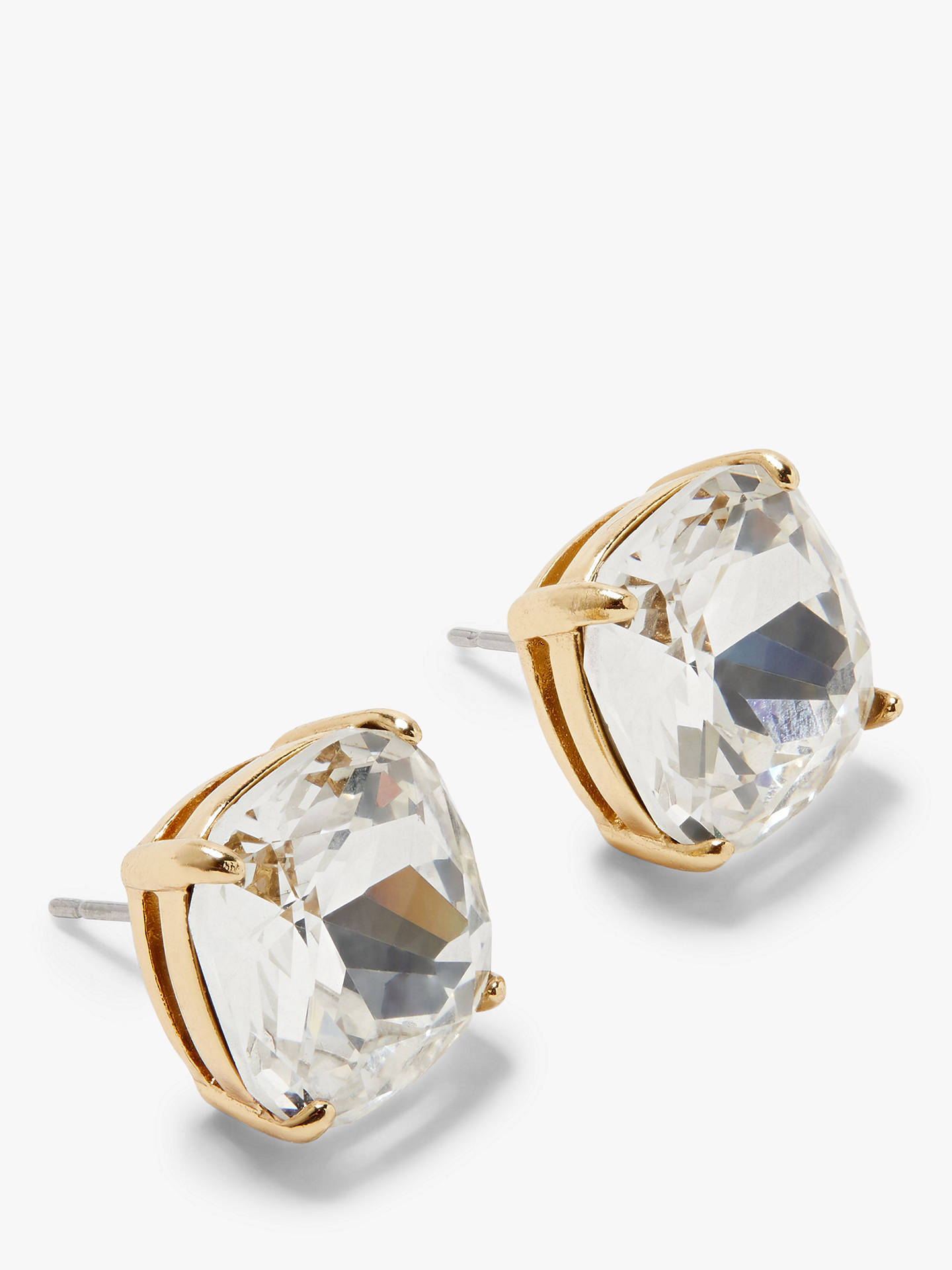 4170d244994e25 Buy kate spade new york Small Square Stud Earrings, White Online at  johnlewis.com ...