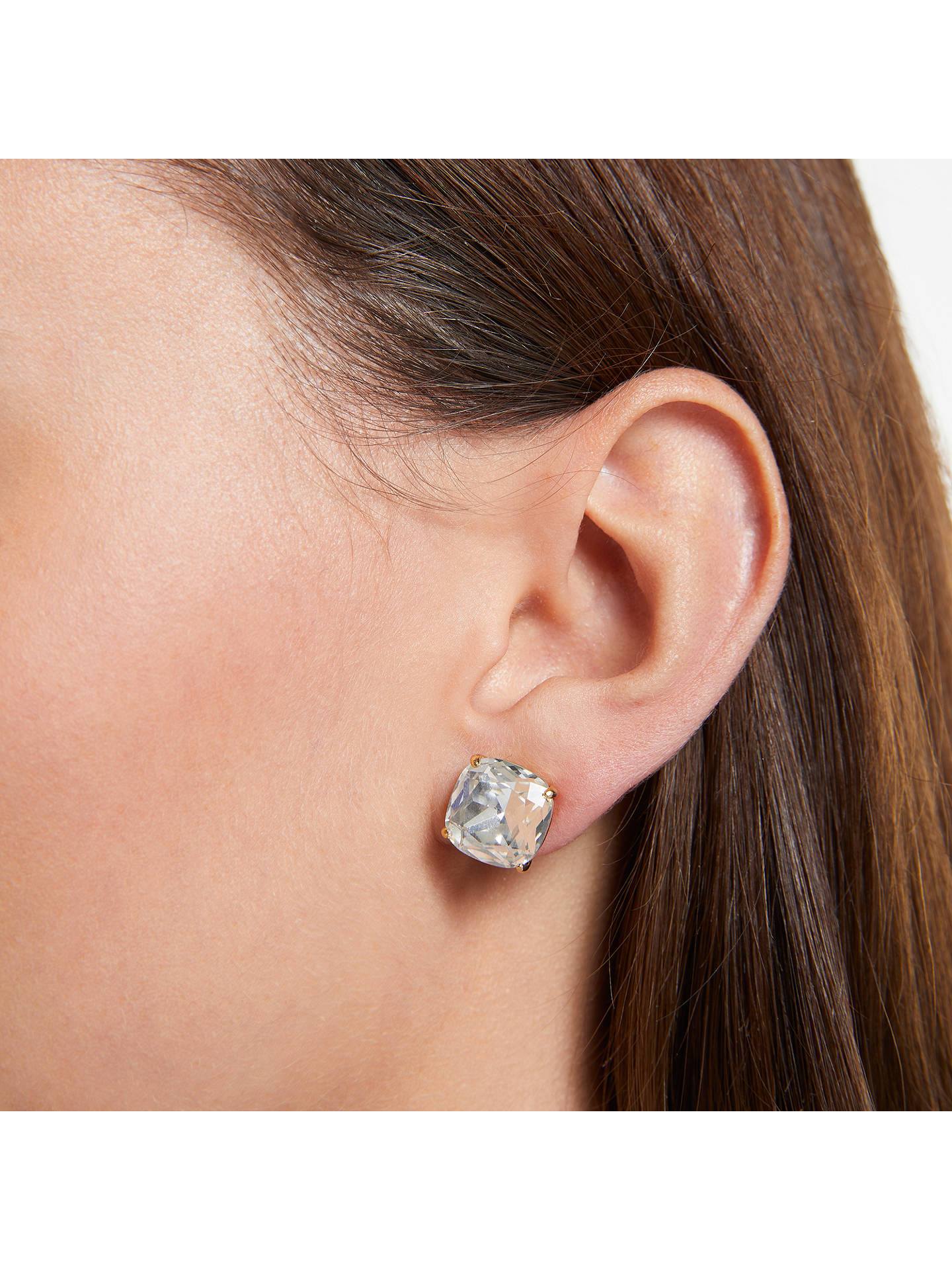 e47554f36eee98 ... Buy kate spade new york Small Square Stud Earrings, White Online at  johnlewis.com