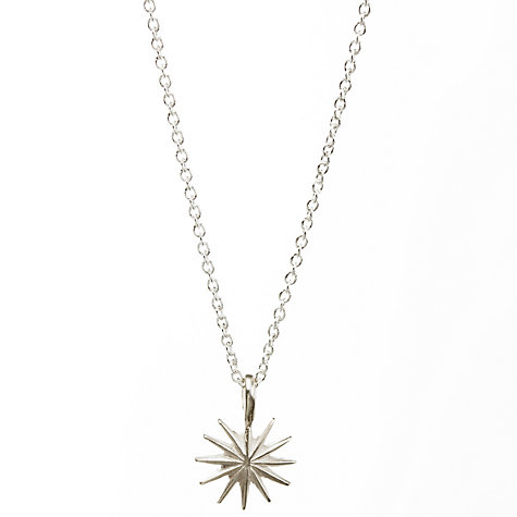 Buy Dogeared Sterling Silver Accomplish Magnificent Things Starburst Reminder Necklace, Silver Online at johnlewis.com