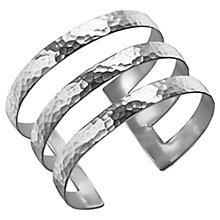 Buy Dower & Hall Sterling Silver Triple Cuff, Silver, 40mm Online at johnlewis.com