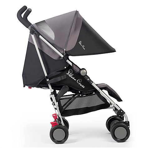 Buy Silver Cross Pop Stroller, Black Online at johnlewis.com