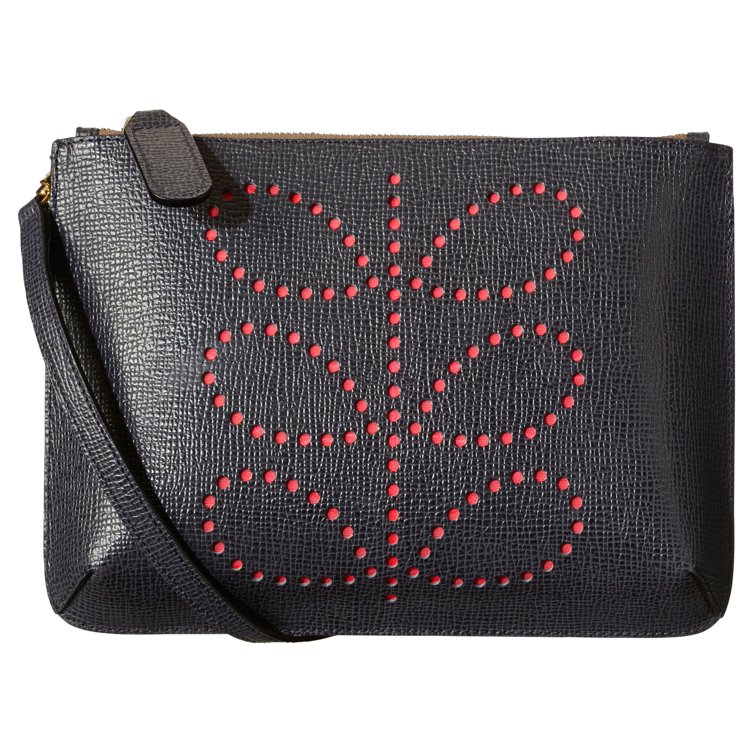 Orla Kiely Exclus Forget Me Not Leather Across Body Bag