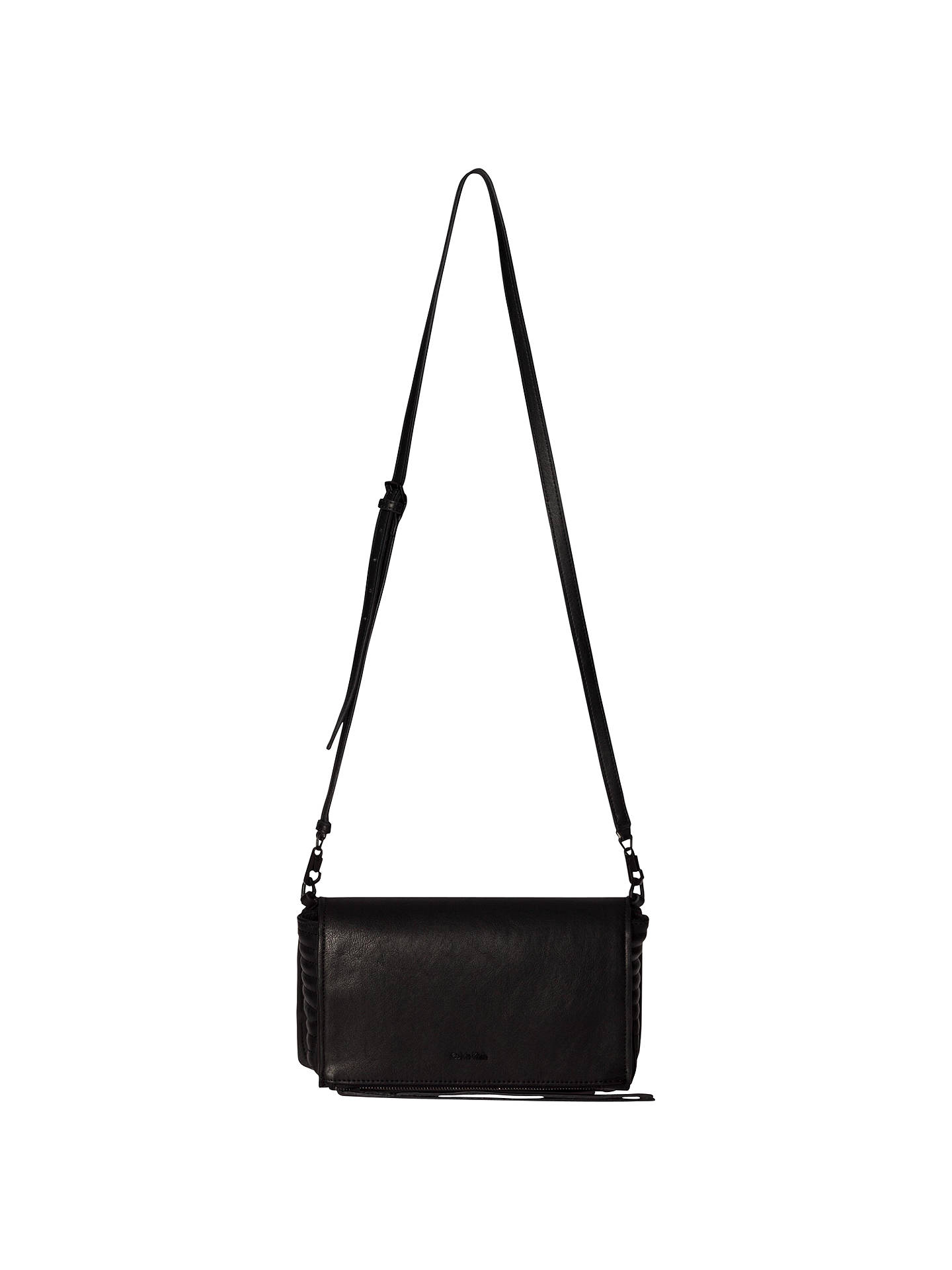 2fd5cd7511 Buy Calvin Klein Esther Small Leather Cross Body Bag, Black Online at  johnlewis.com