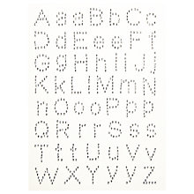 Buy John Lewis Adhesive Diamante Letters, Pack of 56 Online at johnlewis.com