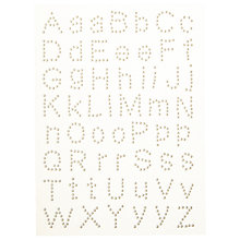 Buy John Lewis Adhesive Pearl Letters, Pack of 56 Online at johnlewis.com