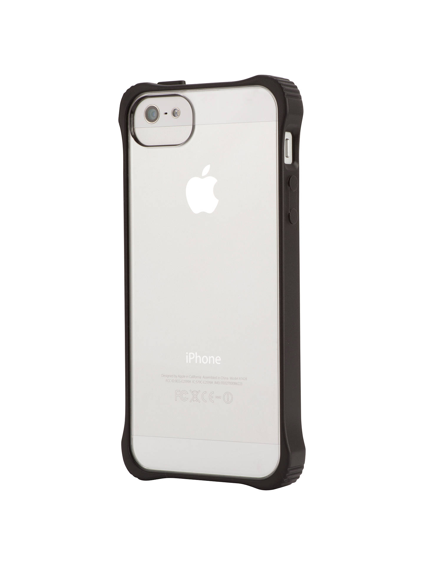 official photos 418cc 7374a Griffin Survivor Core Case for iPhone 5 & 5s, Clear back with black ...