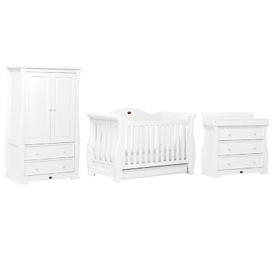 Boori Sleigh Three Drawer Dresser, White