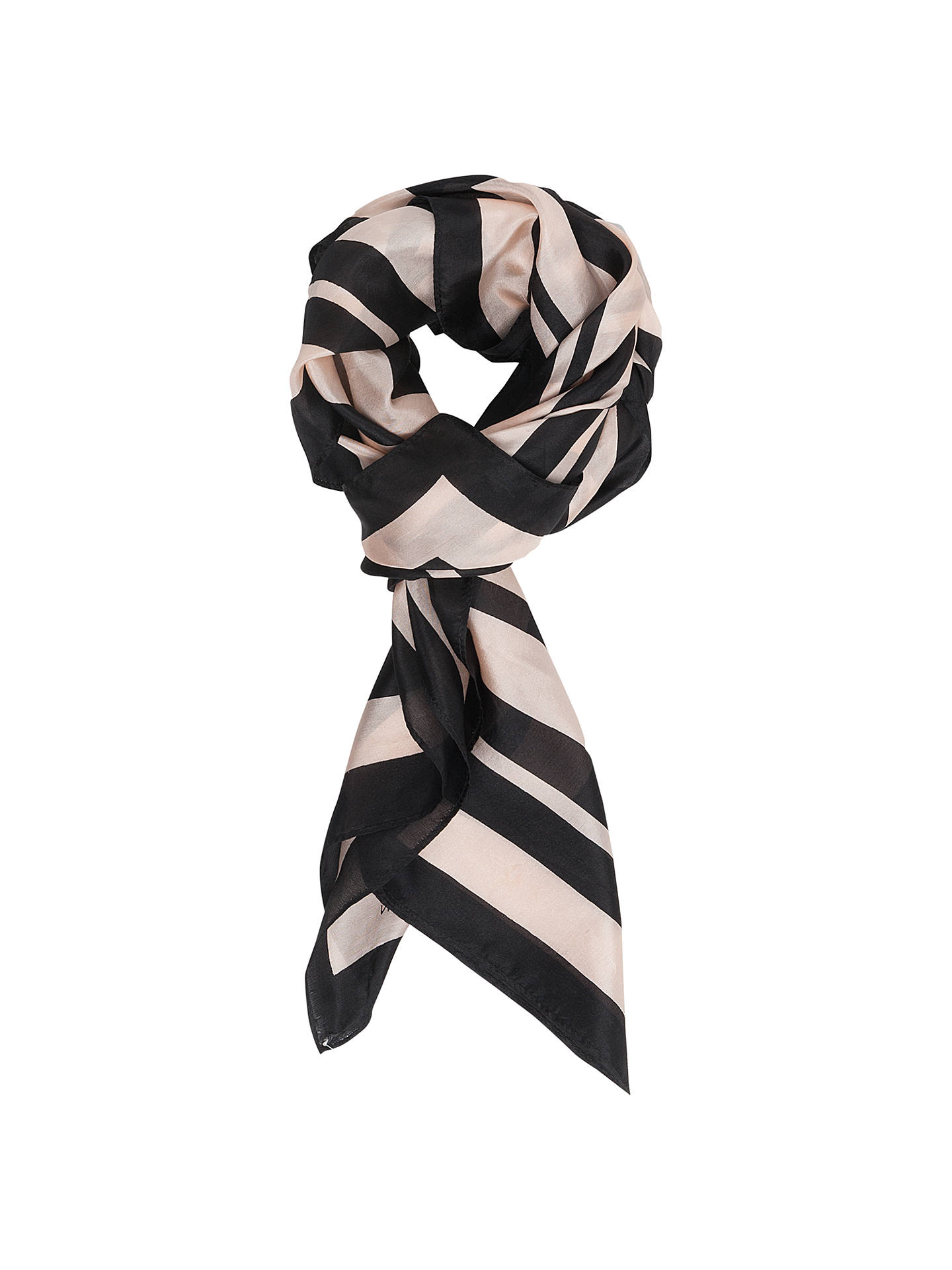 BuyFrench Connection Janet Striped Silk Scarf e192a57432ecf