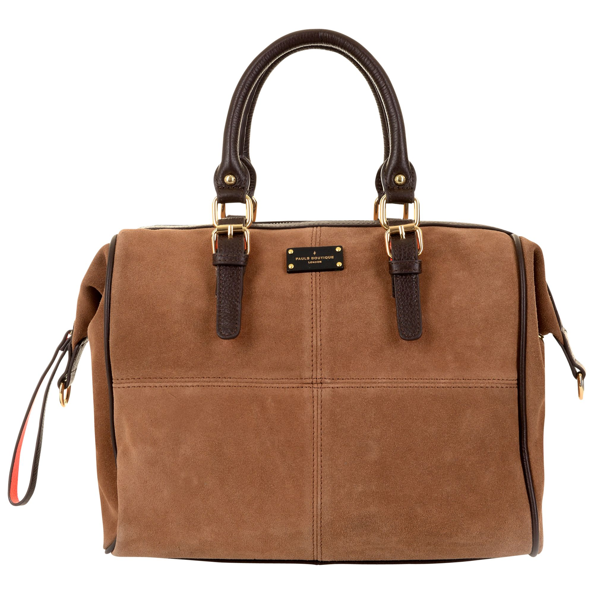 1613e70bc0 Paul s Boutique Porter Slouchy Suede Bowling Bag at John Lewis   Partners