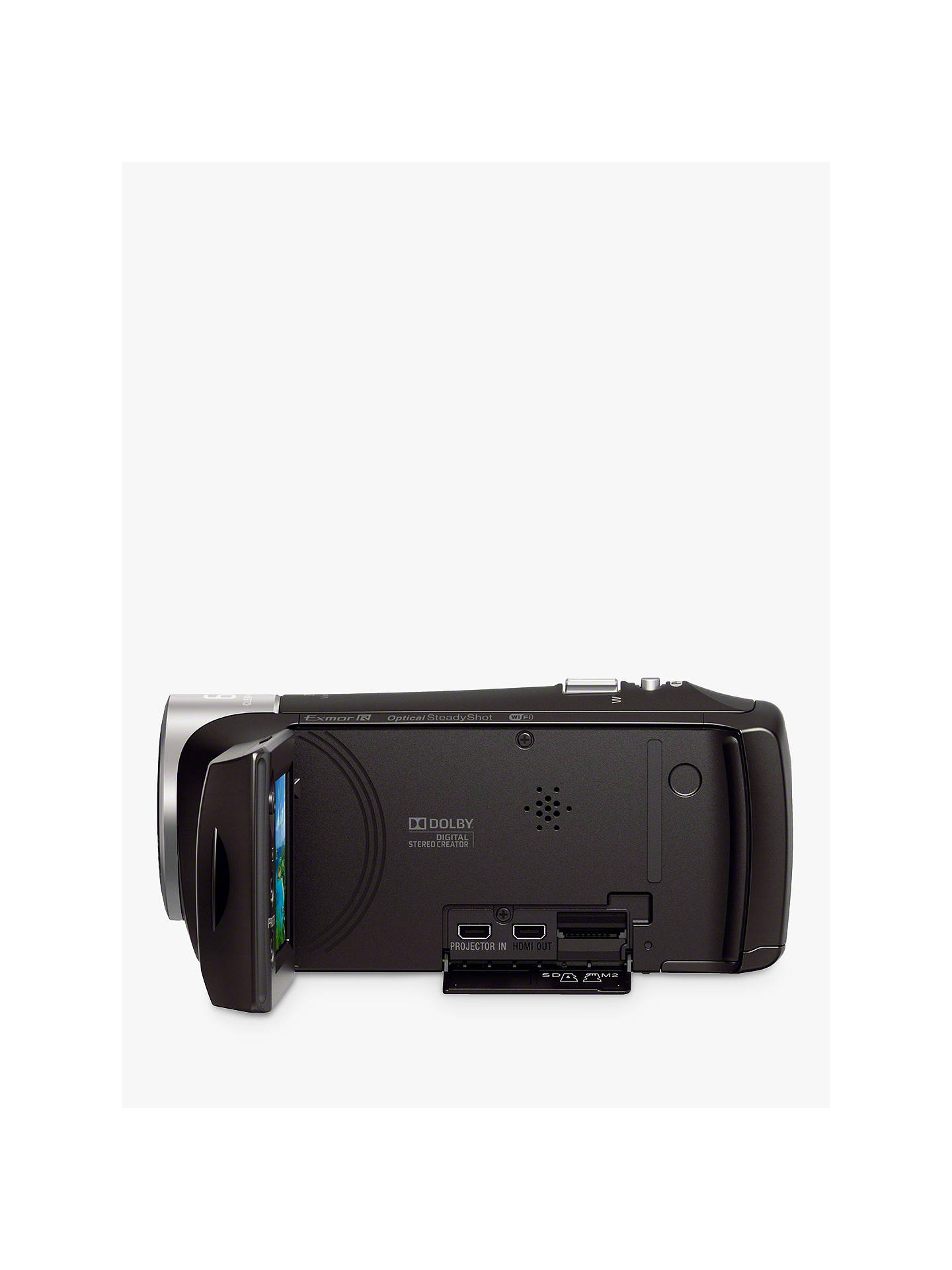 Sony PJ410 Handycam with Built-in Projector, HD 1080p, 2 29MP, 30x Optical  Zoom, Wi-Fi, NFC