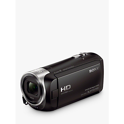 Image of Sony CX405 Handycam with Exmor R CMOS Sensor, HD 1080p, 2.29MP, 30x Optical Zoom, 2.7 LCD Screen, Black