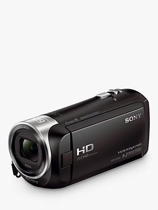 "Sony CX405 Handycam with Exmor R CMOS Sensor, HD 1080p, 2.29MP, 30x Optical Zoom, 2.7"" LCD Screen, Black"