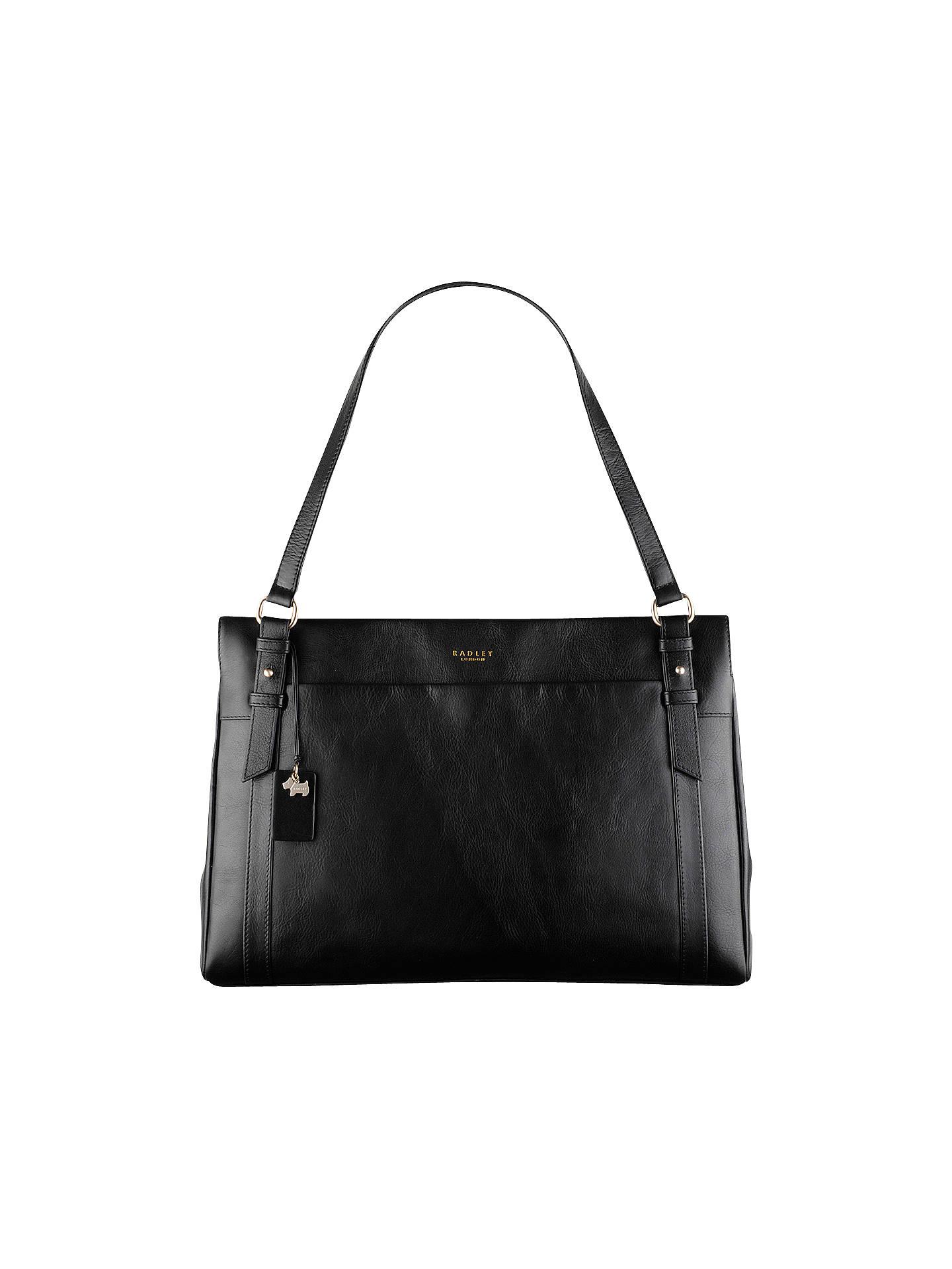 56e8e12fa Buy Radley Chelsea Large Leather Work Bag, Black Online at johnlewis.com ...