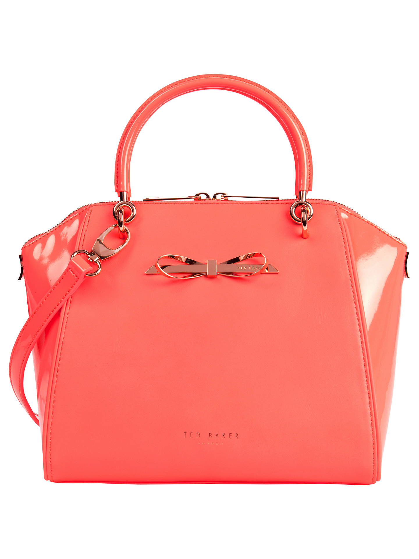 Ted Baker Leather Pailey Bow Tote Bag At John Lewis Amp Partners