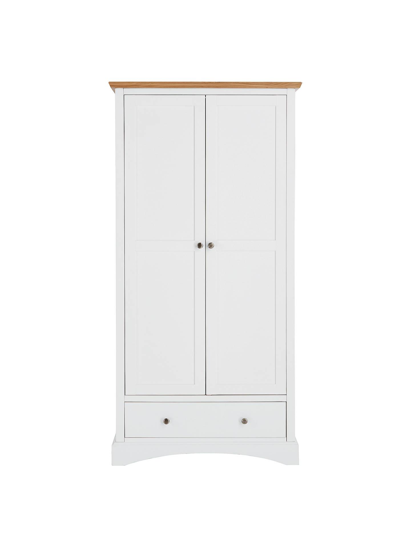 John Lewis Darton 2 Door Wardrobe Soft White Oak Online At Johnlewis