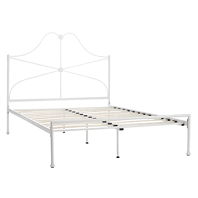 John Lewis Mary Bed Frame, Double, White