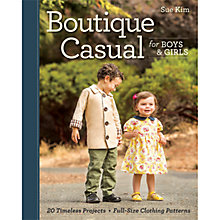 Buy Boutique Casual for Boys and Girls by Sue Kim Sewing Book Online at johnlewis.com