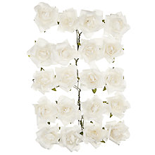 Buy John Lewis Paper Roses, Pack of 20, White Online at johnlewis.com