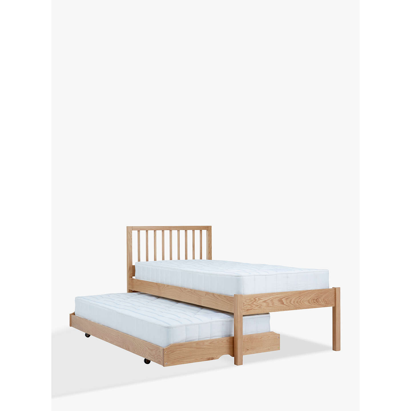 single bed with trundle lewis trundle guest bed with mattresses 17073