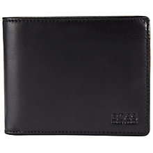 Buy BOSS Asolo Bi-fold Leather Wallet, Black Online at johnlewis.com