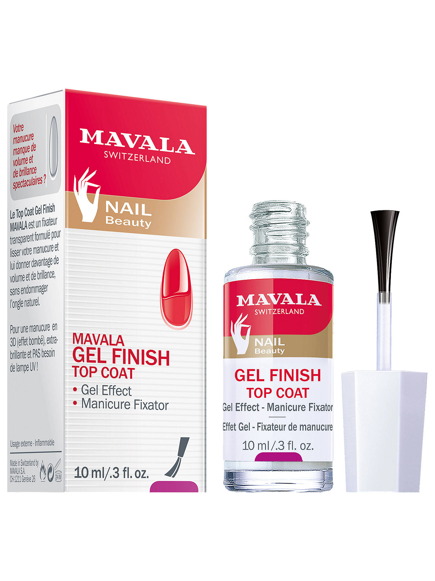 BuyMAVALA Gel Effect Nail Polish Top Coat, 10ml Online at johnlewis.com