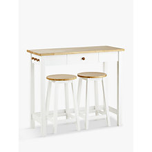 Buy John Lewis Adler Bar Table & Stools, White/Oak Online at johnlewis.com