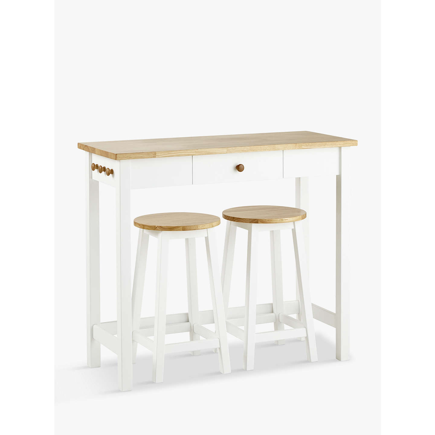 White Bar Table And Stools: John Lewis Adler Bar Table & Stools, White/Oak At John Lewis