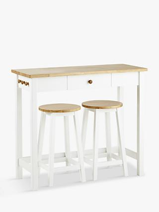 John Lewis Partners Adler Bar Table Stools White Oak