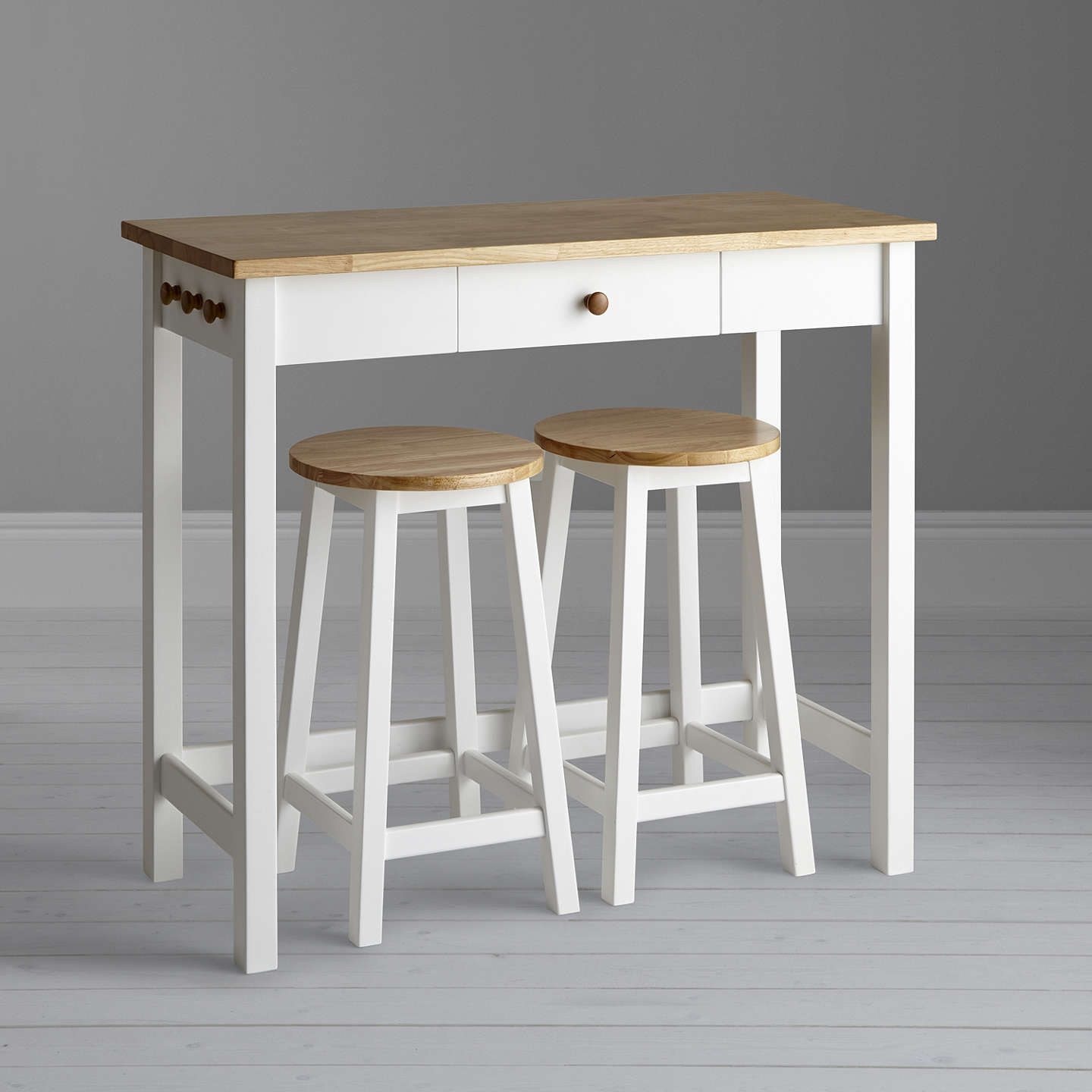John Lewis Adler Bar Table Amp Stools White Oak At John Lewis