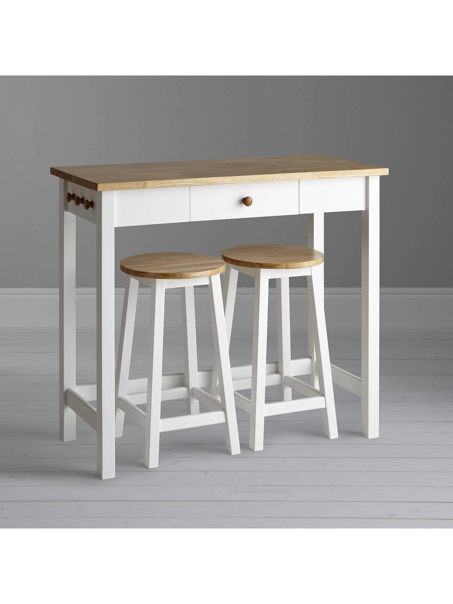 John Lewis Partners Adler Bar Table Stools White Oak Online At
