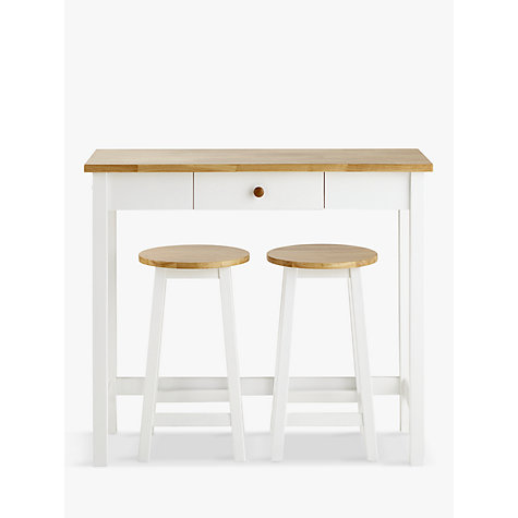 buy john lewis adler bar table u0026 stools cream online at johnlewis