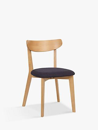 House by John Lewis Clio Chair, Dark Grey/Oak