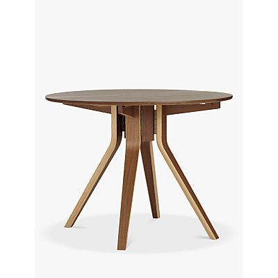 John Lewis Radar 4-Seater Drop-Leaf Dining Table, Walnut