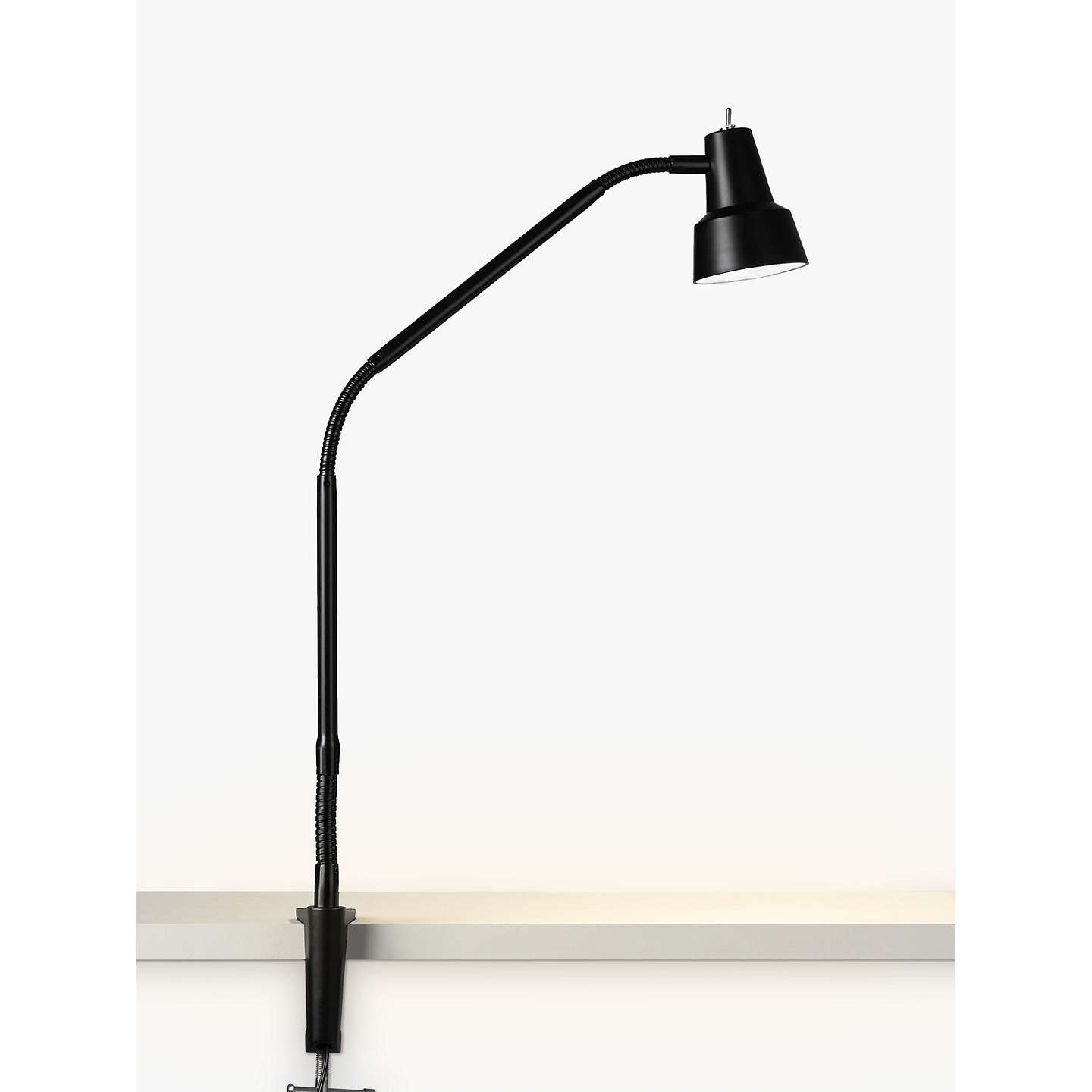 John Lewis Za Led Clip On Desk Lamp With Clamp Black At Johnlewis