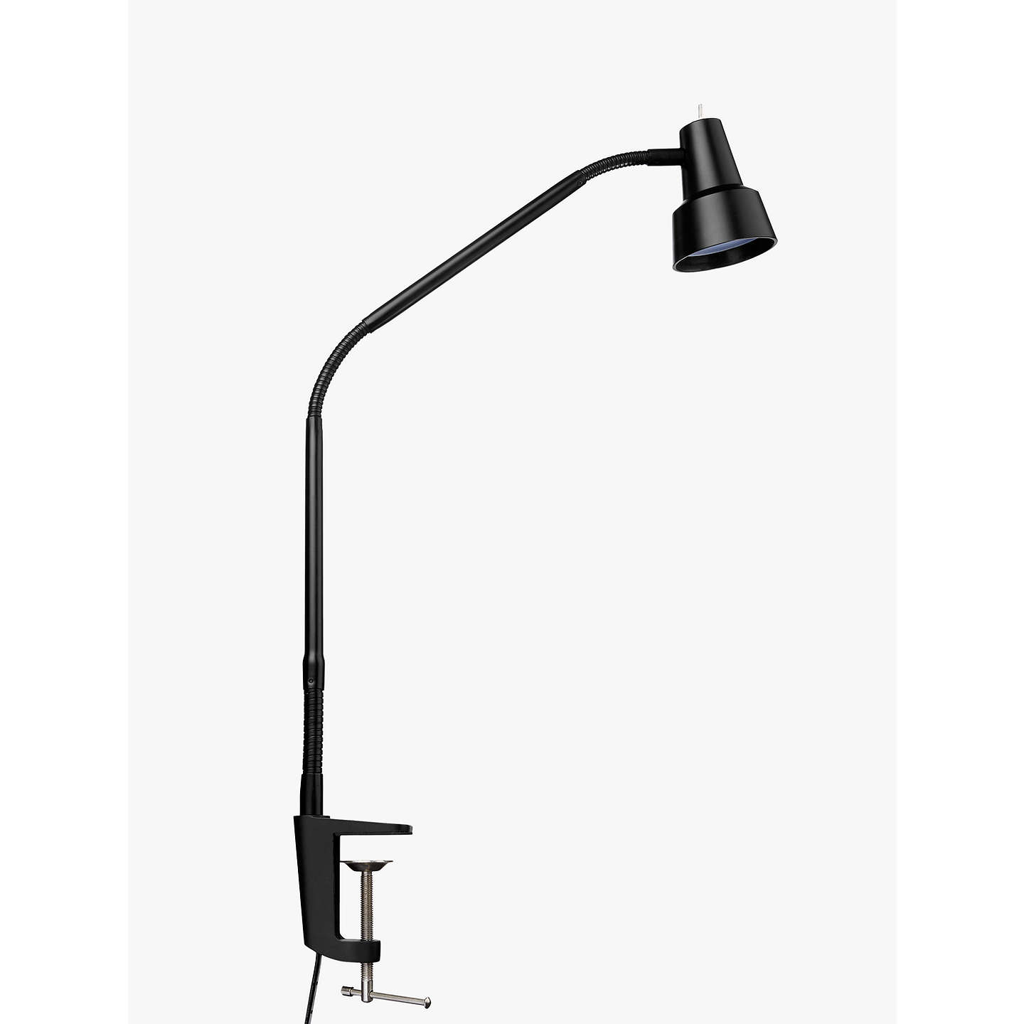 BuyJohn Lewis Zadie LED Clip on Desk Lamp with Clamp, Black Online at johnlewis.com