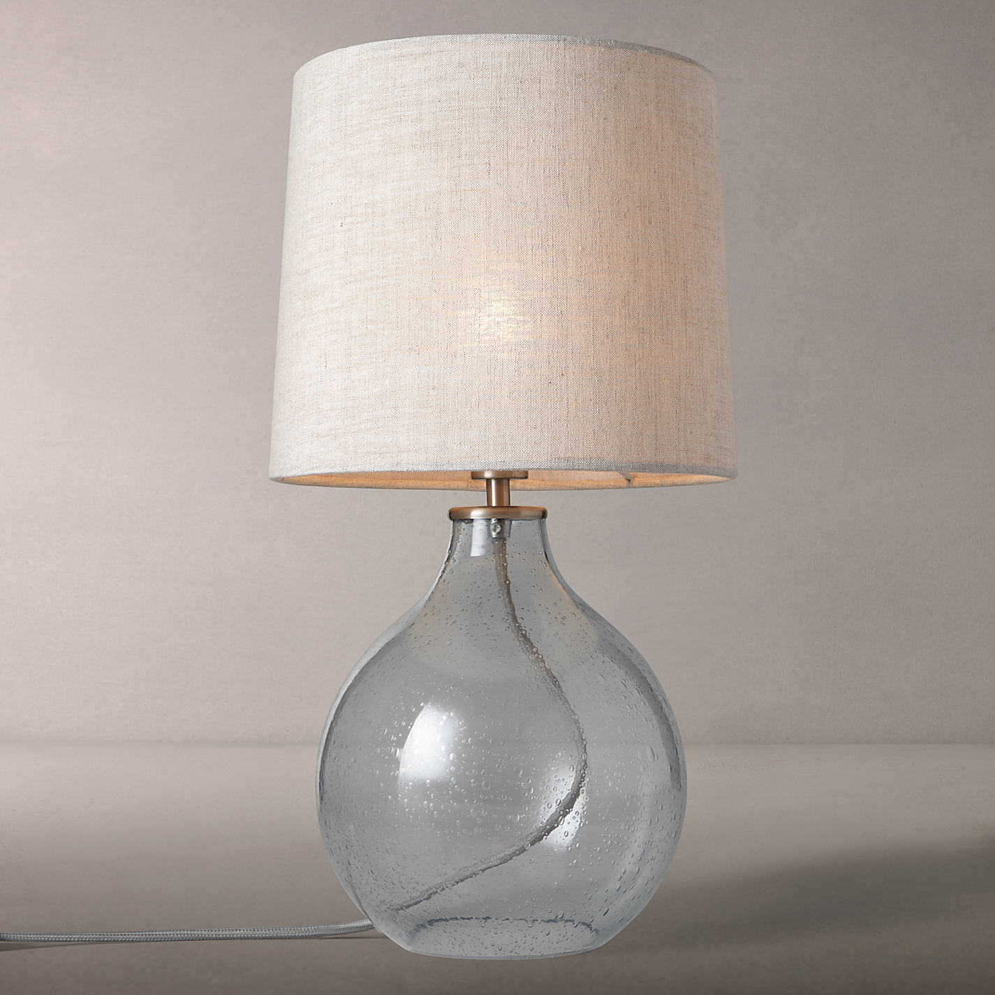 Buy John Lewis Croft Collection Selsey Dimpled Glass Table Lamp