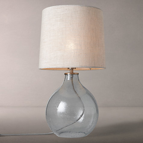Buy John Lewis Croft Collection Selsey Dimpled Glass Table Lamp, Blue Online at johnlewis.com