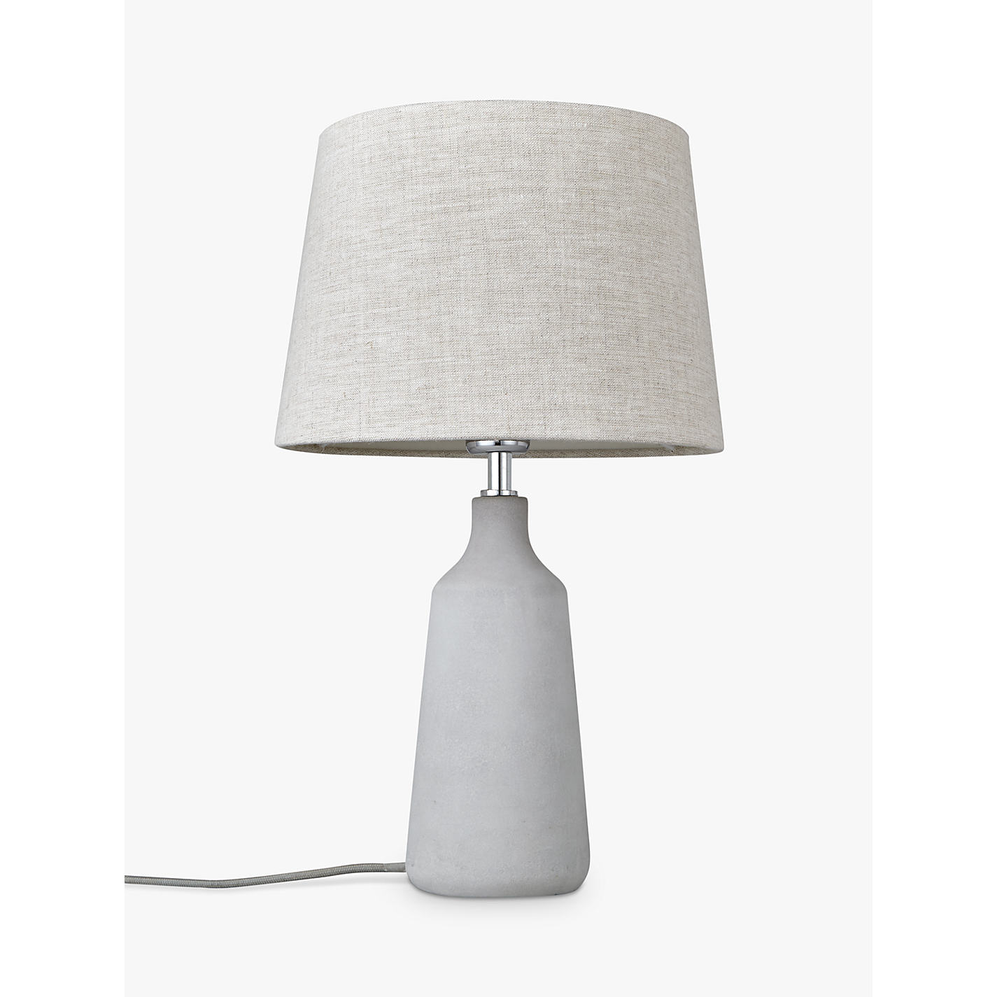 Buy john lewis croft collection linney concrete table lamp john buy john lewis croft collection linney concrete table lamp online at johnlewis geotapseo Image collections