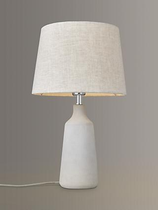 John Lewis & Partners Linney Concrete Table Lamp