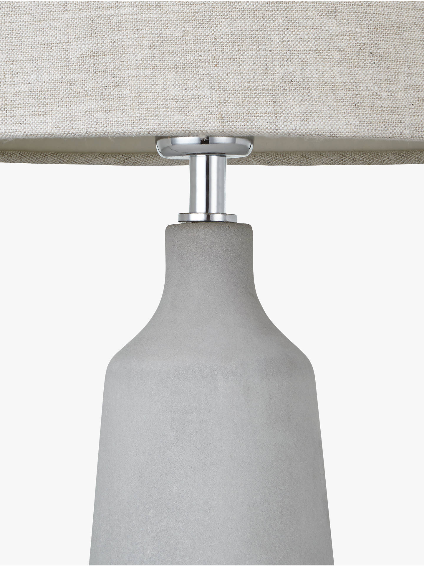 Buy John Lewis & Partners Linney Concrete Table Lamp Online at johnlewis.com